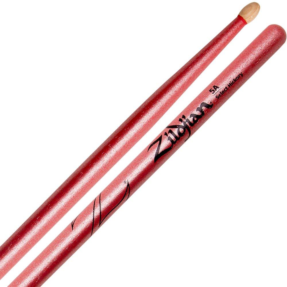 Zildjian 5A Chroma Series Red Drum Sticks - Wood Tip