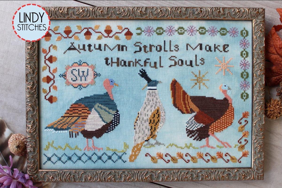 Autumn Strolls chart - Lindy Stitches