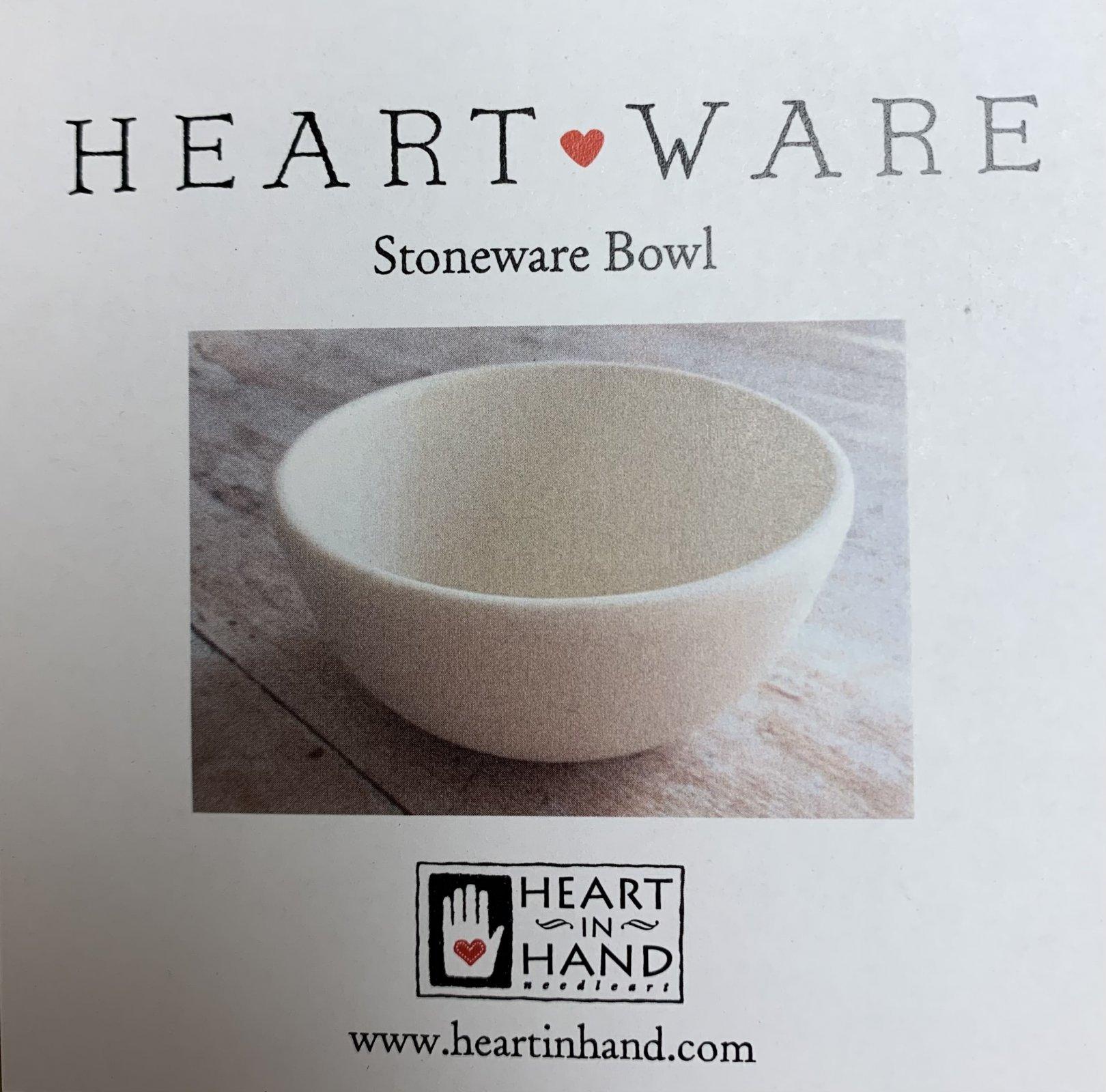 Heartware cream bowl - Heart in Hand