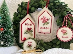French Christmas Tags II chart - JBW Designs