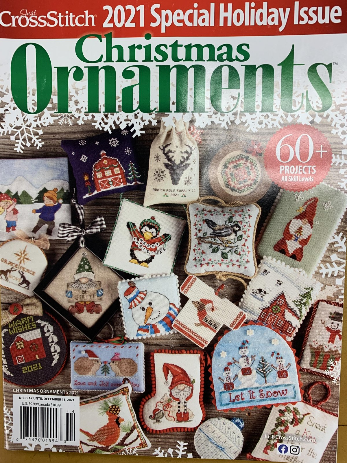 2021 Christmas Ornaments Issue - Just Cross Stitch