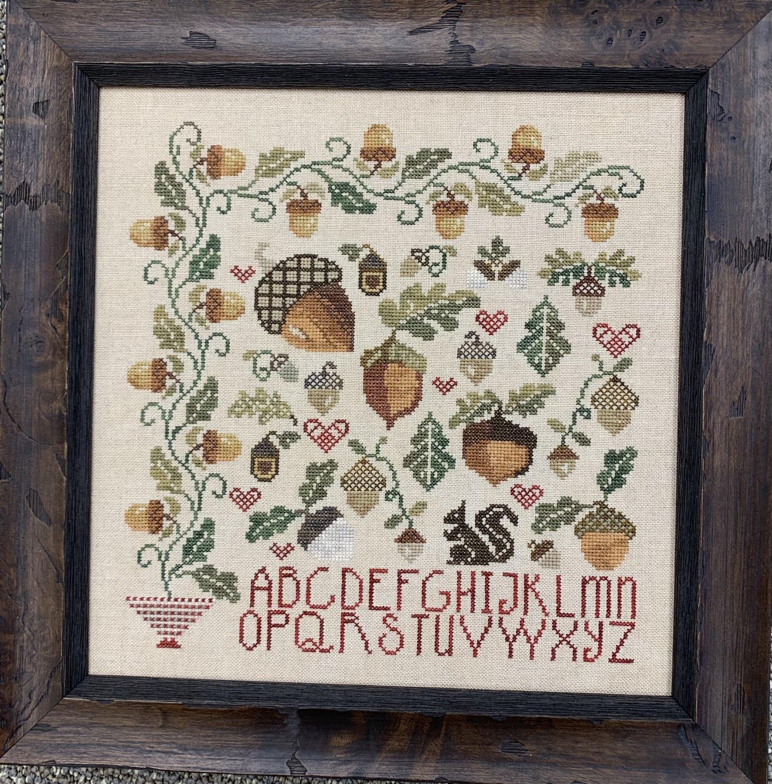 Vintage Acorns chart - Jeannette Douglas Designs