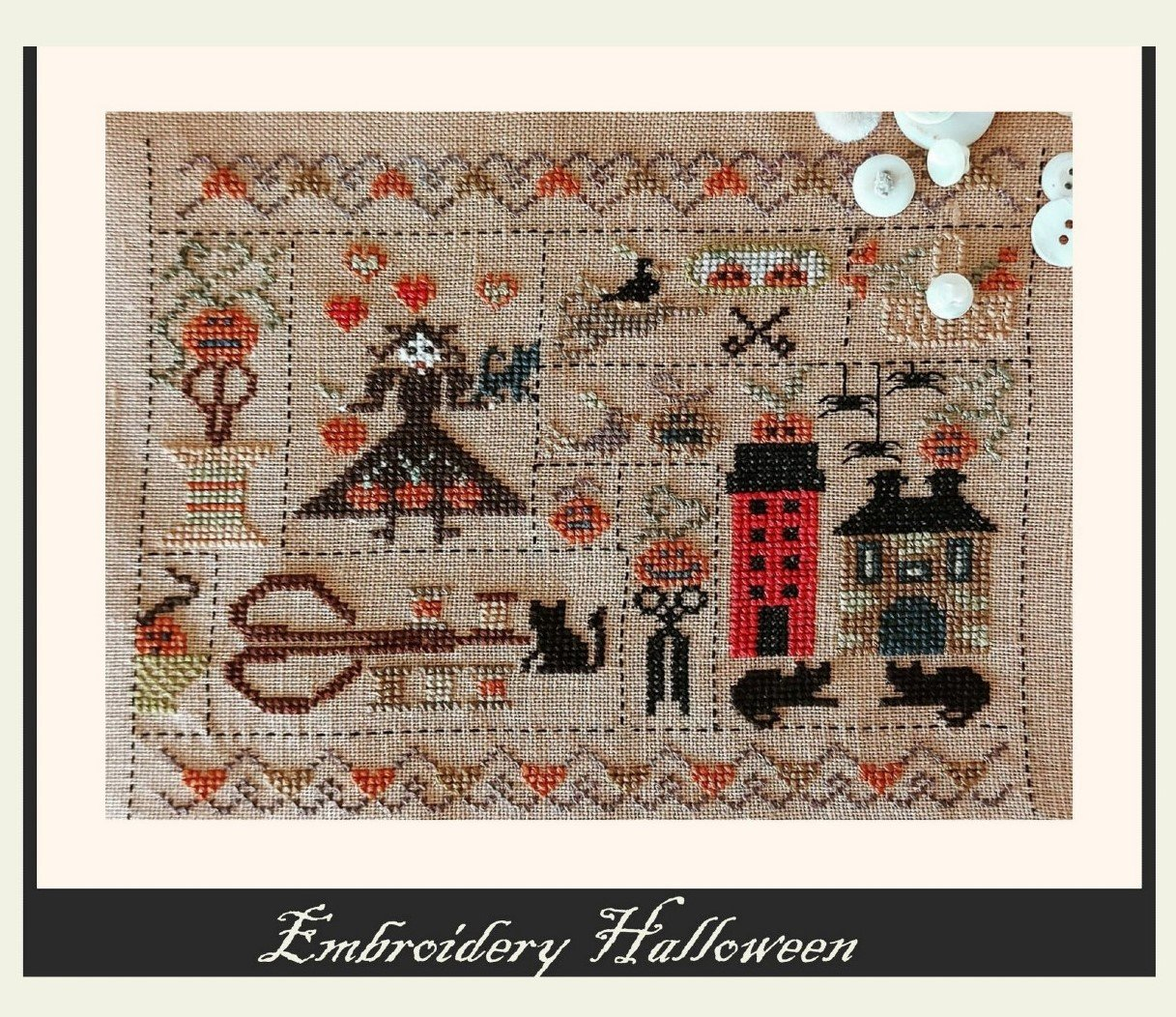 Embroidery Halloween chart - Nikyscreations