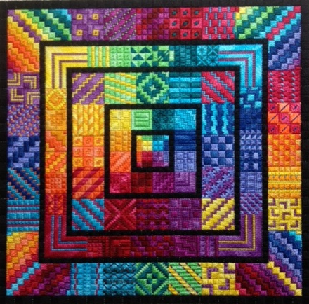Around the Rainbow chart - Needle Delights