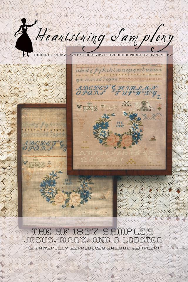 HF 1837 Sampler chart - Heartstring Samplery