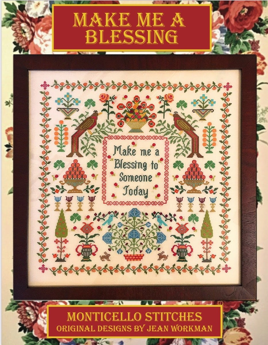 Make Me a Blessing chart - Monticello Stitches
