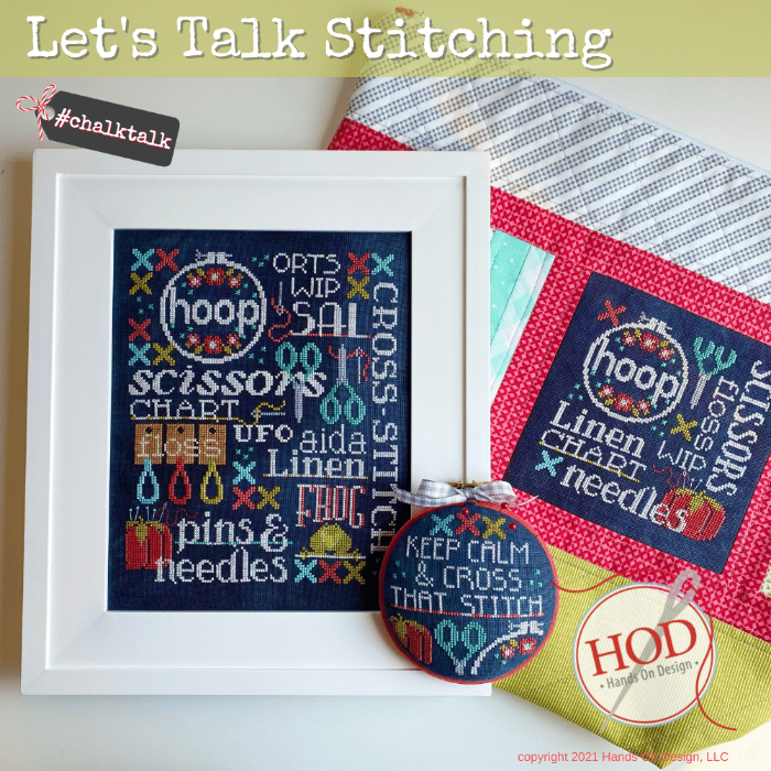 Let's Talk Stitching chart - Hands on Design