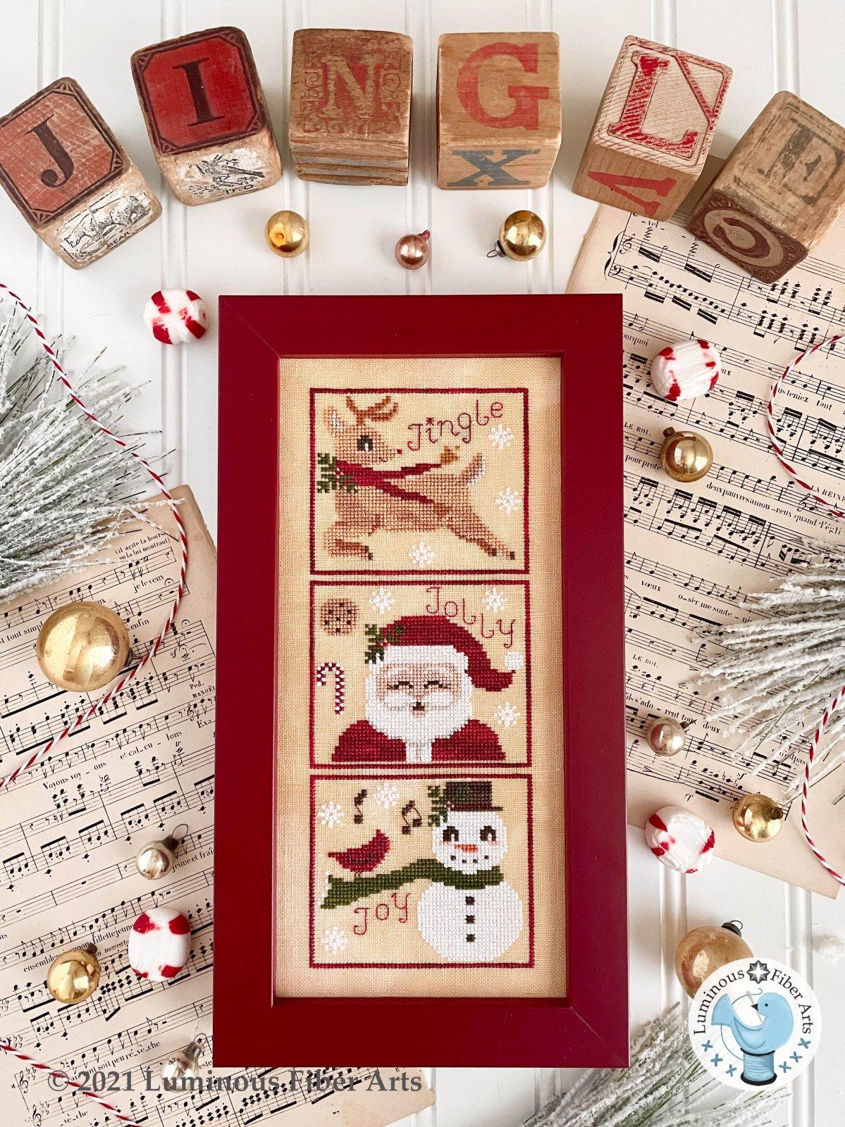 Jingle, Jolly Joy chart - Luminous Fiber Arts