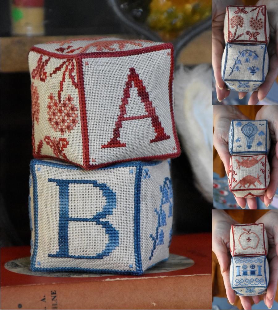 Alphabet Block Series #1 chart - Mojo Stitches