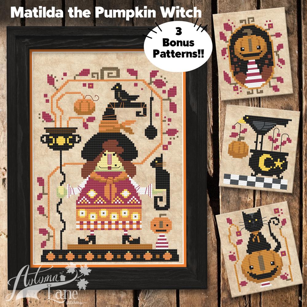 Matilda the Pumpkin Witch chart - Autumn Lane