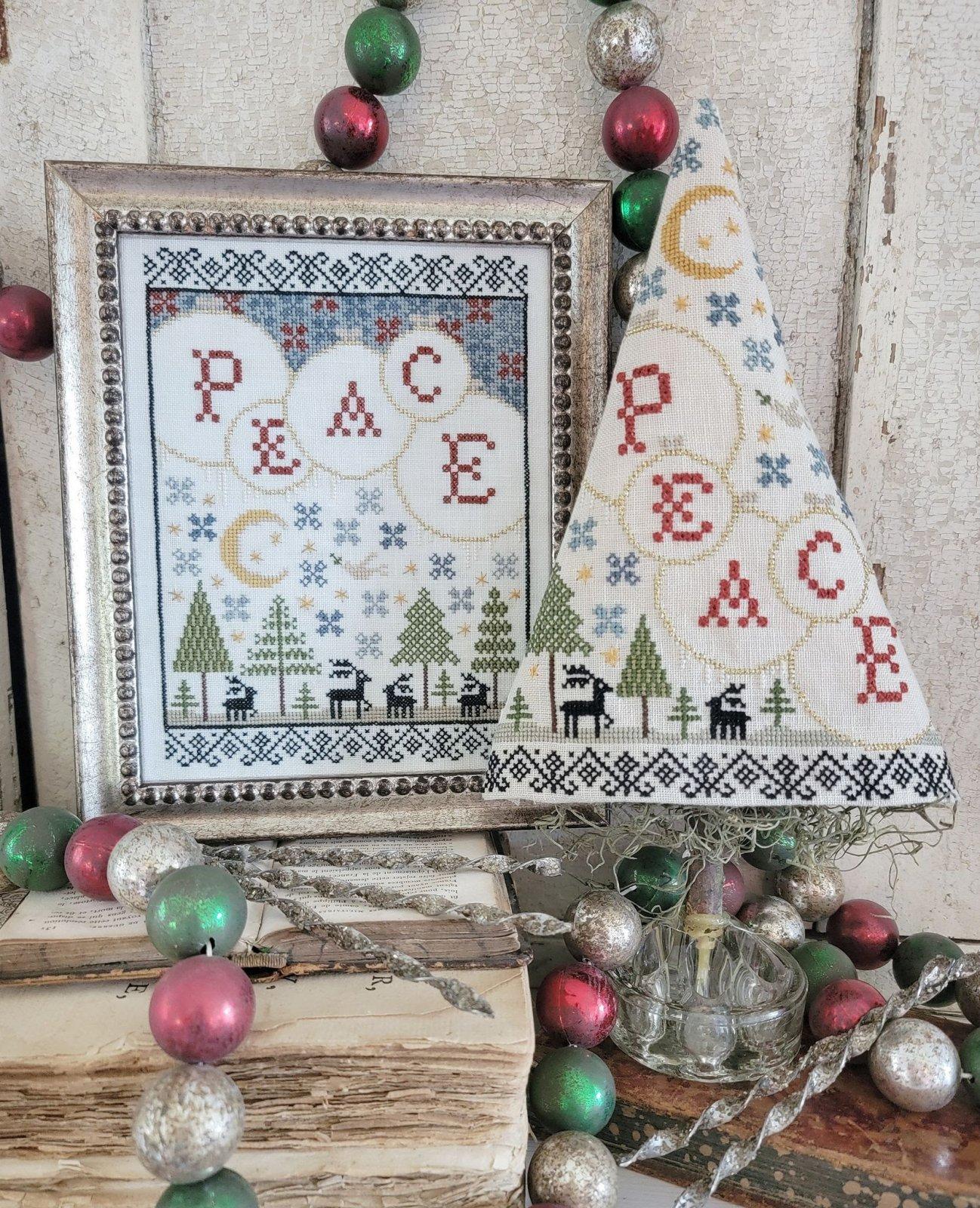 Fifth Day of Christmas Sampler and Tree chart - Hello from Liz Mathews