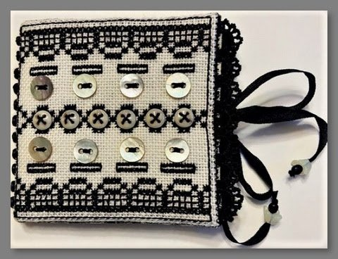 Buttons and Black Lace needle book kit - Fern Ridge