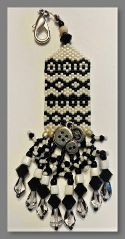 Button and Black Lace fob kit - Fern Ridge