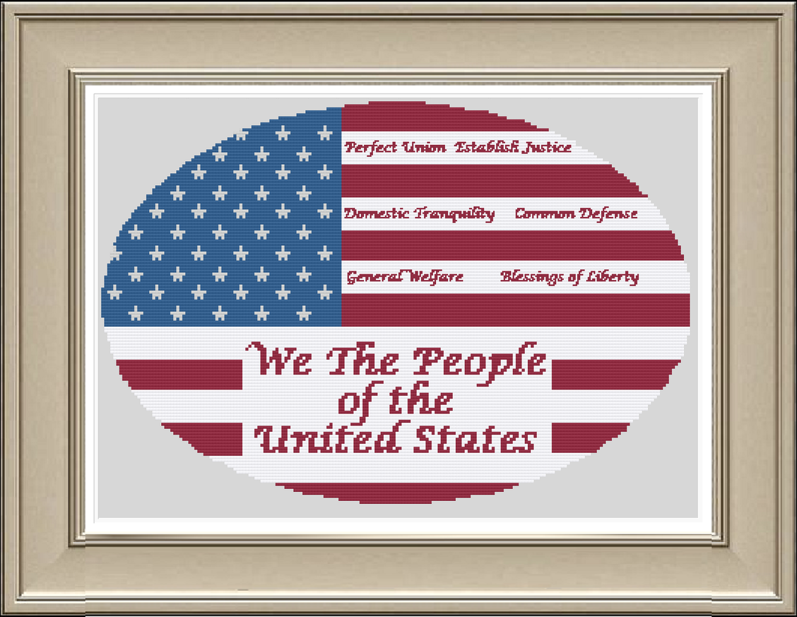 We the People chart - Salty Stitcher Designs