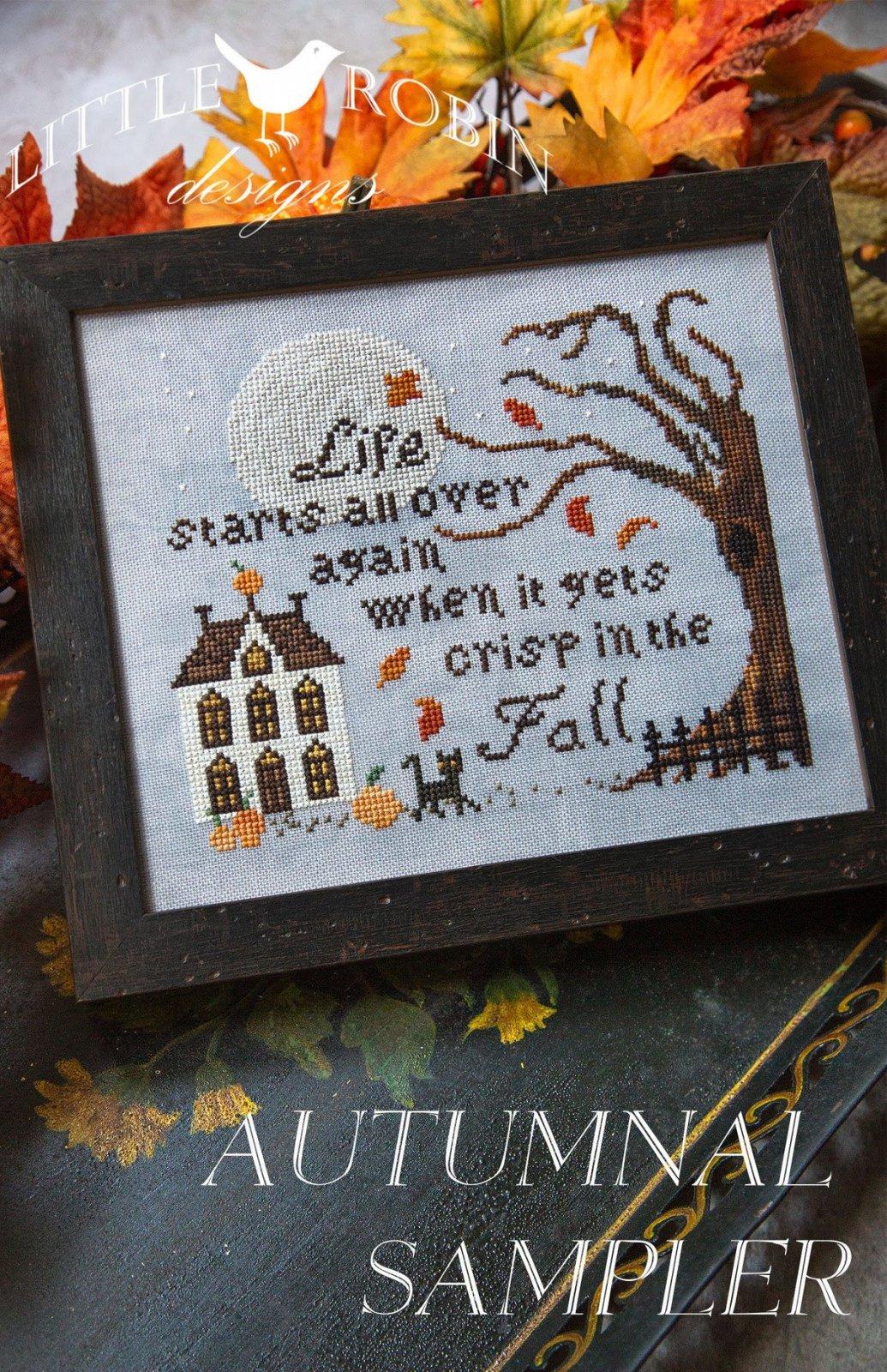 Autumnal Sampler chart - Little Robin Designs
