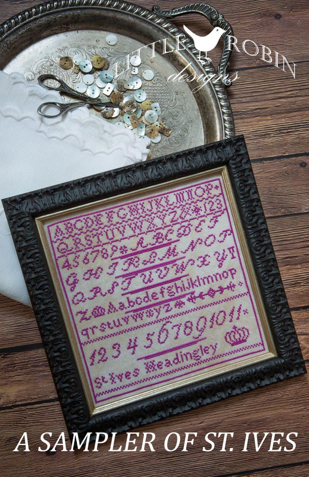 A Sampler of St. Ives chart - Little Robin Designs