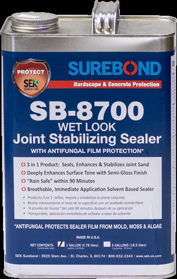 Paver Sealer - 8700 Gloss Sealer with Anti-Fungal