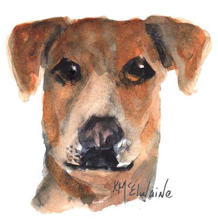 Intermediate Watercolor Painting Video Class Terrier Dog PT031