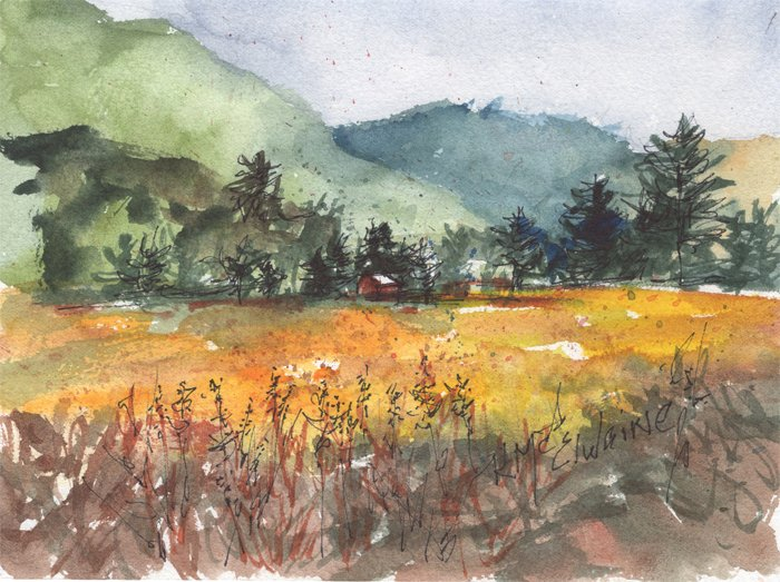 November 1 and 2 How to Watercolor Paint Landscape LS082 Zoom Class