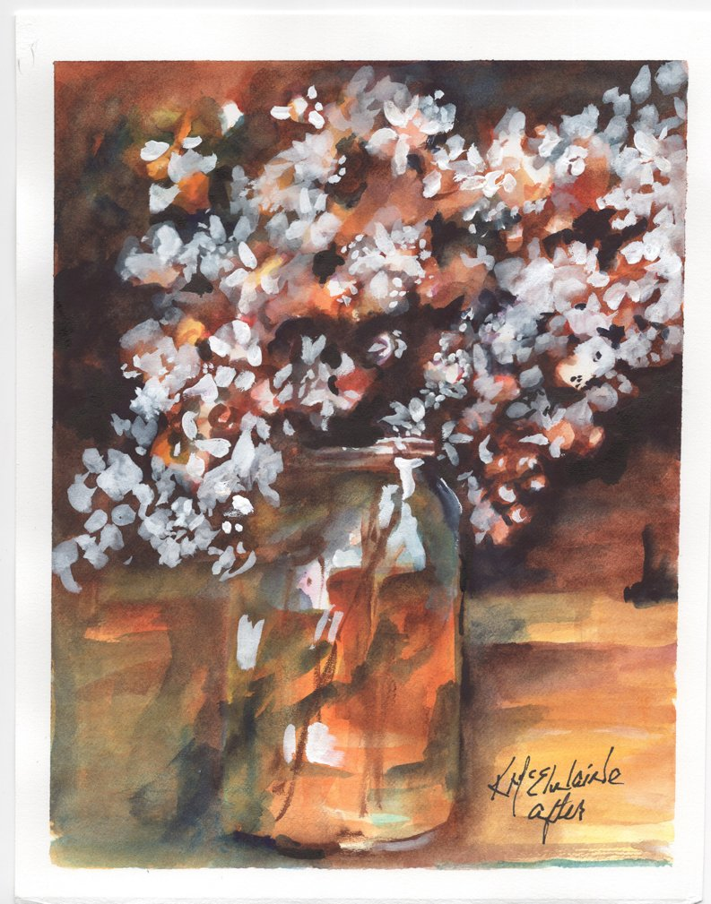 How to Watercolor Paint  Baby's Breath EL134 Zoom Class
