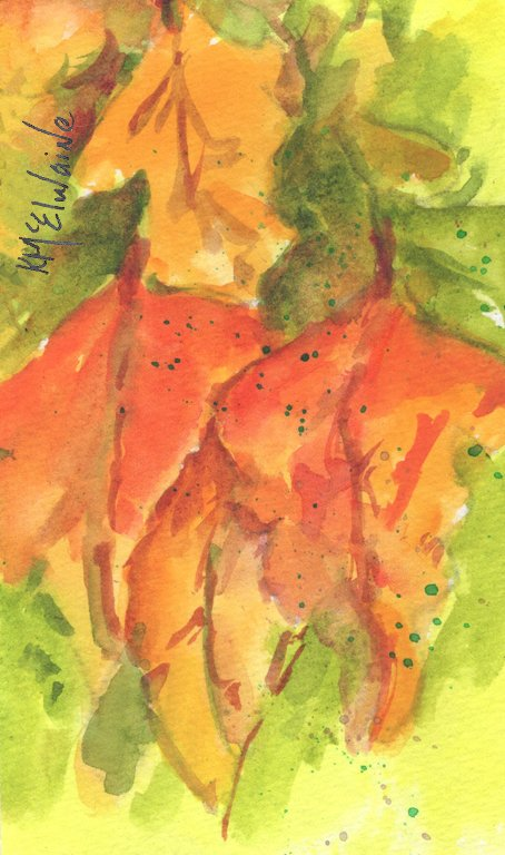 How to Watercolor Paint  Autumn Leaves FL145 Zoom Class