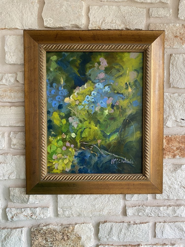 Blueberry 16x20 Oil Painting FA078