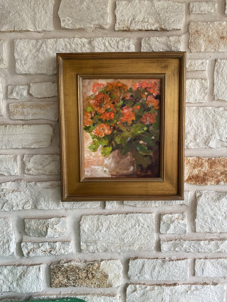 Gift of Fowers FA076 Oil Painting 11x14