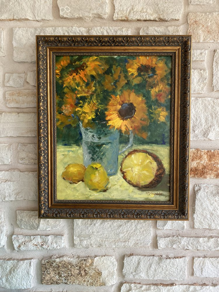 Sunflowers 16x20 Oil Painting FA080