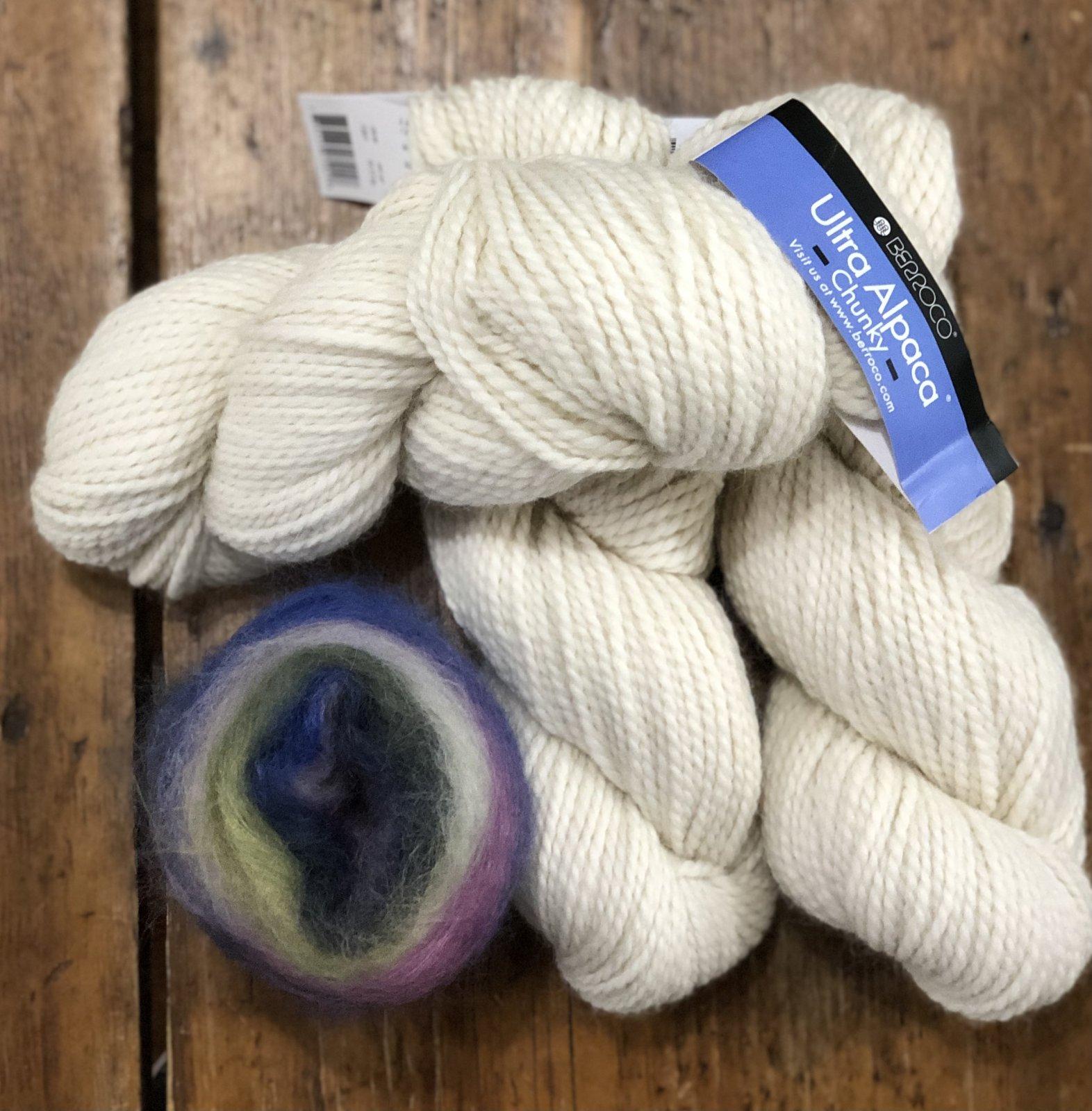 Knit Look Shoulder Cozy Kit (white/blue/green)
