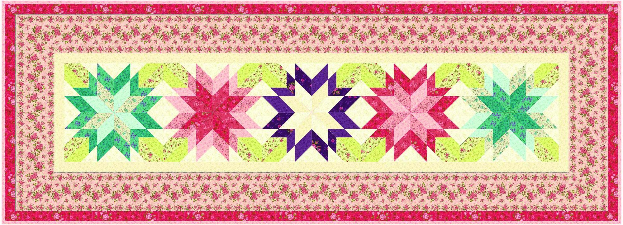 Blooming Star Table runner~Spring KIT