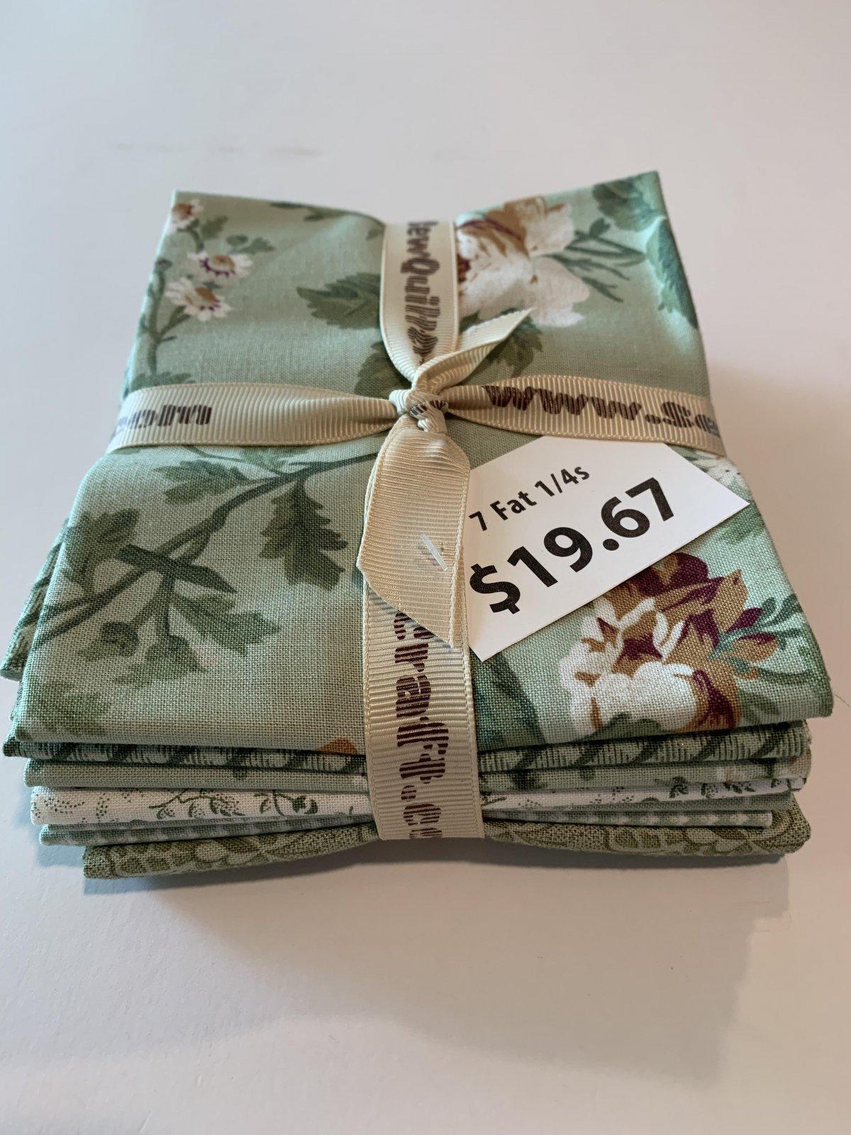 Evelyn - Fat 1/4 Bundle - 7PK Green