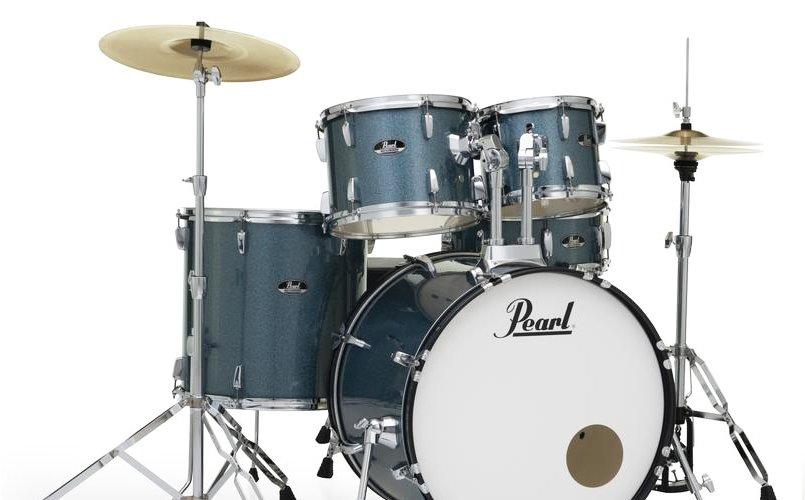 Pearl 4-Piece Roadshow Drum Set-Aqua Blue Gliiter