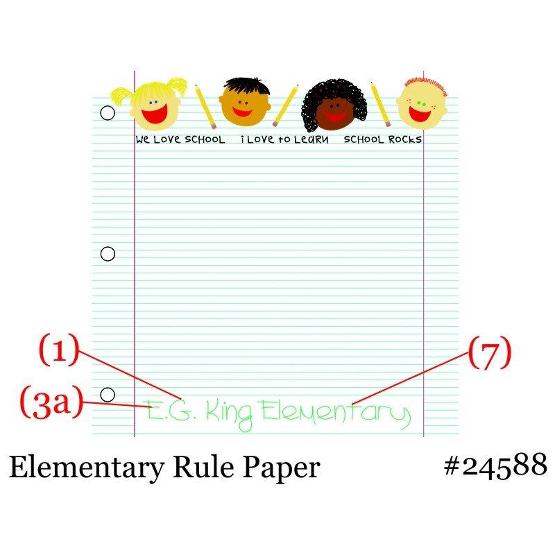 Elementary Rule Paper