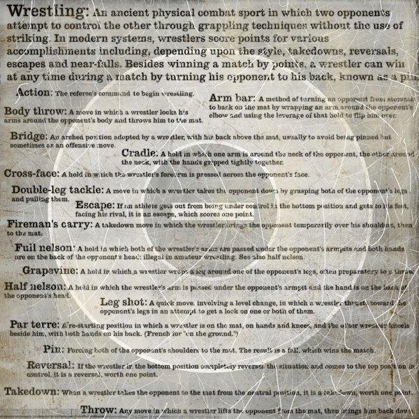 Wrestling - Words
