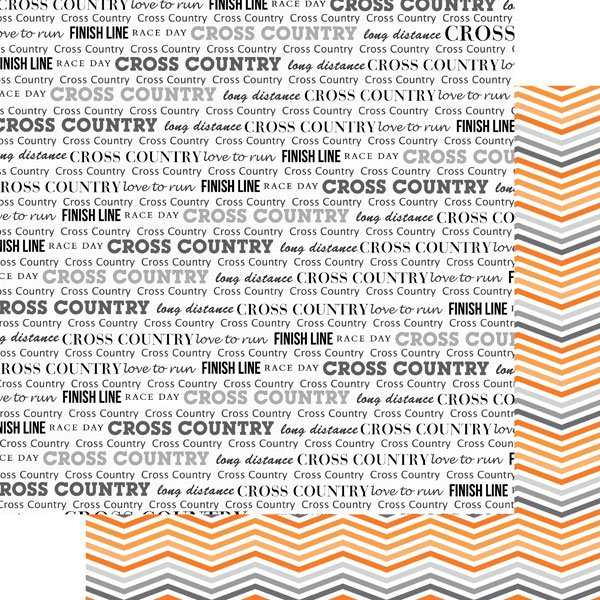 Cross Country & Orange Chevron Ds