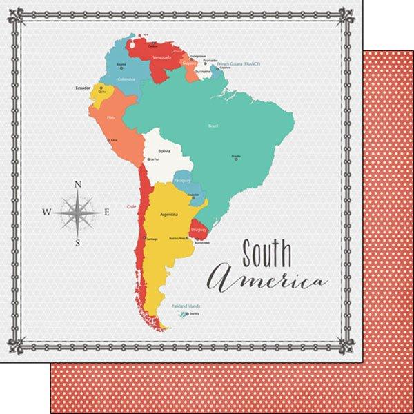 South America Memories Map
