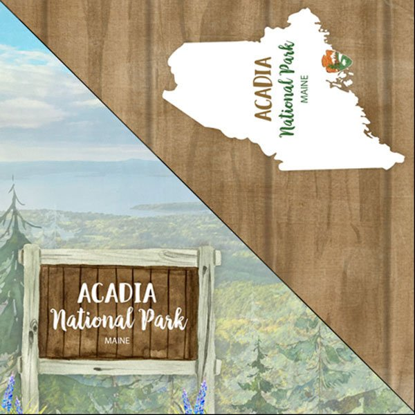 Acadia National Park Watercolor