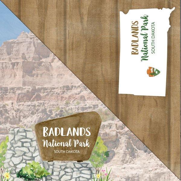Badlands National Park Watercolor