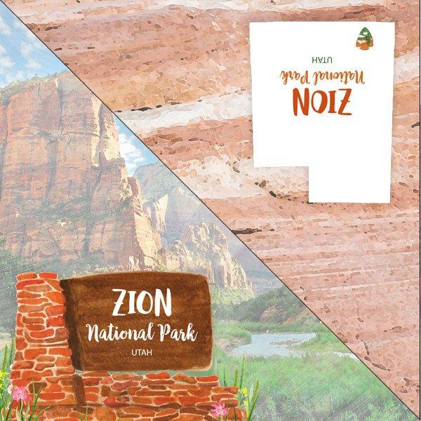 Zion National Park Watercolor