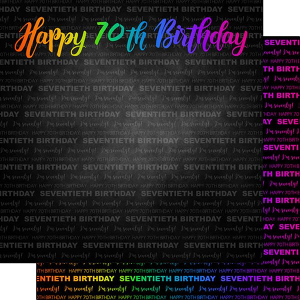 Neon 70Th Birthday