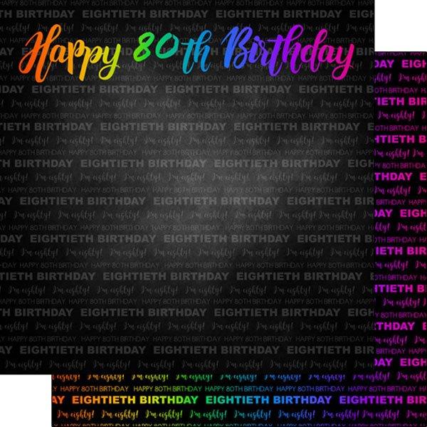 Neon 80Th Birthday