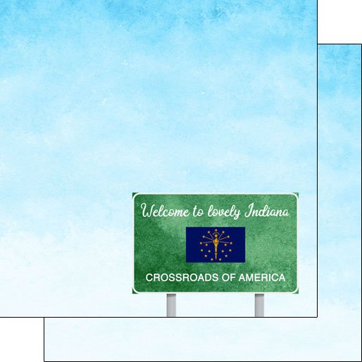 Indiana Welcome Road Sign