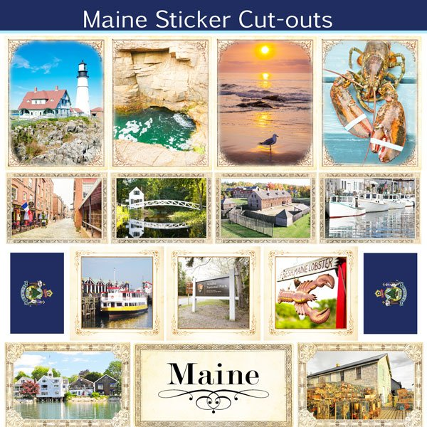 Maine - Sightseeing Picture Cut-Outs