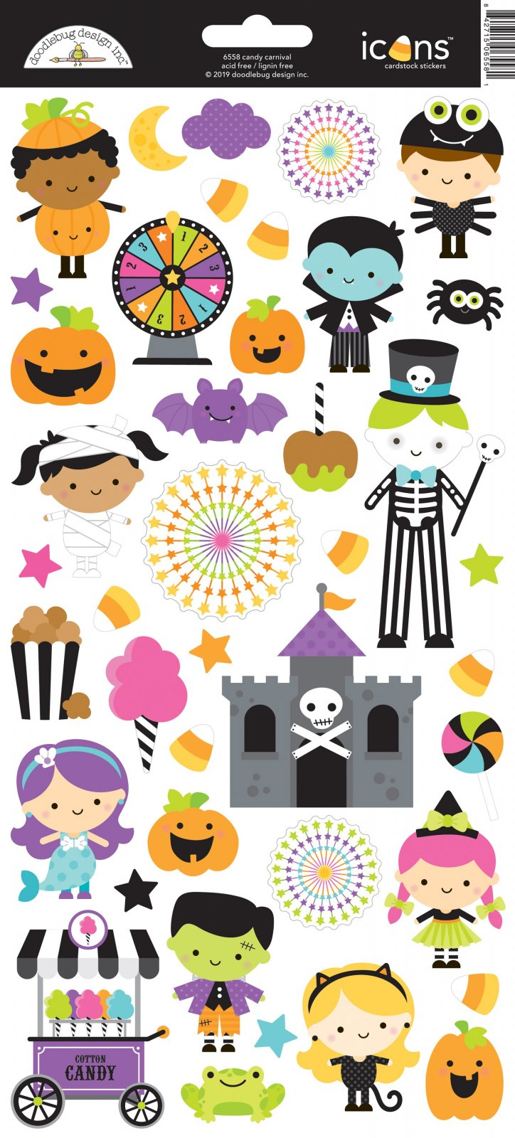 Doodlebug Cardstock Stickers 6X13-Candy Carnival