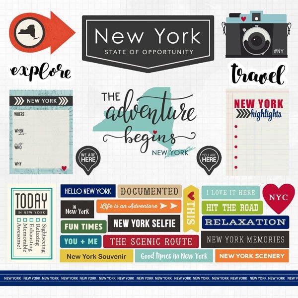 New York Adventure Sticker