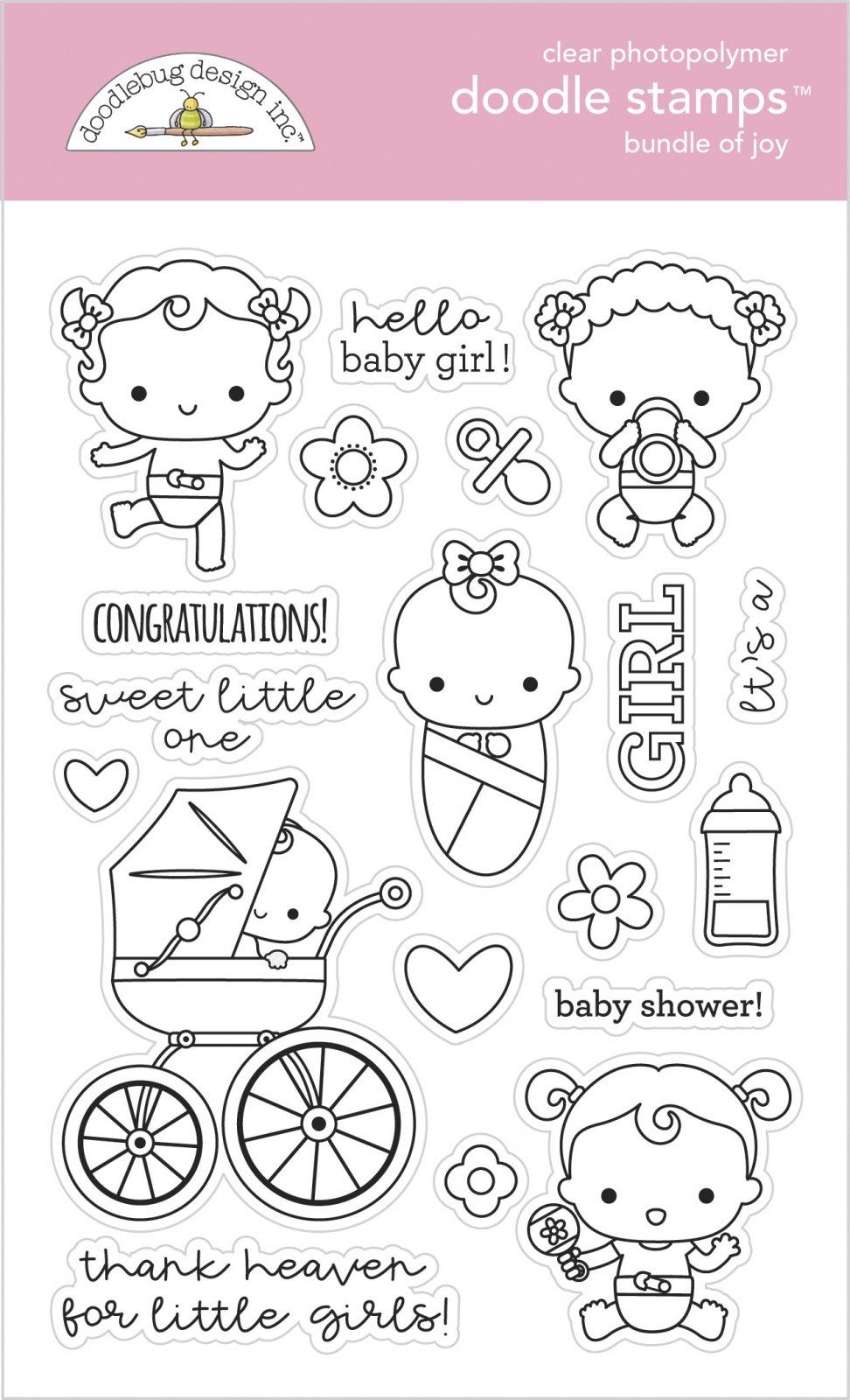 Doodlebug Clear Doodle Stamps-Bundle Of Joy