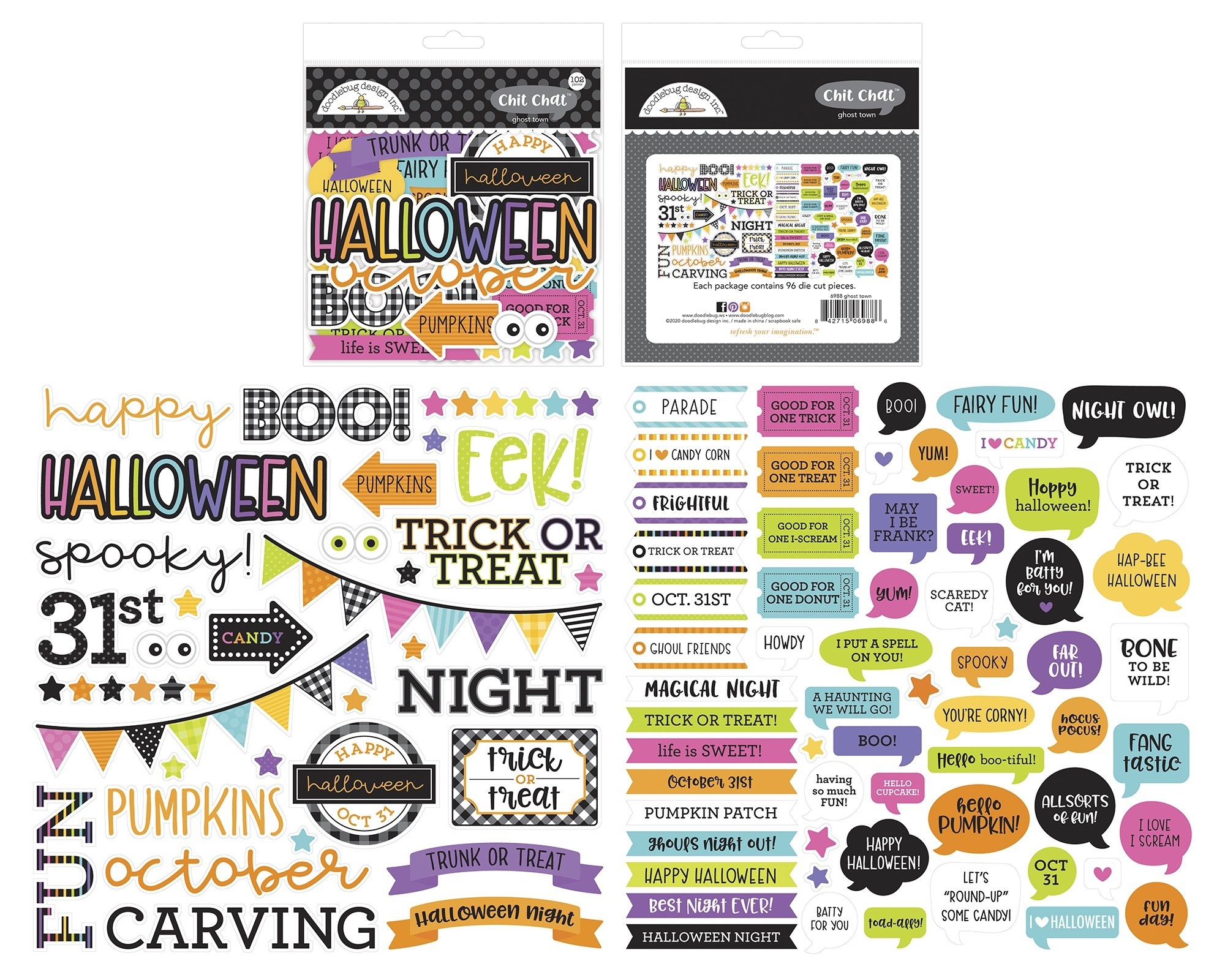 Doodlebug Odds & Ends Chit Chat Die-Cuts-Ghost Town