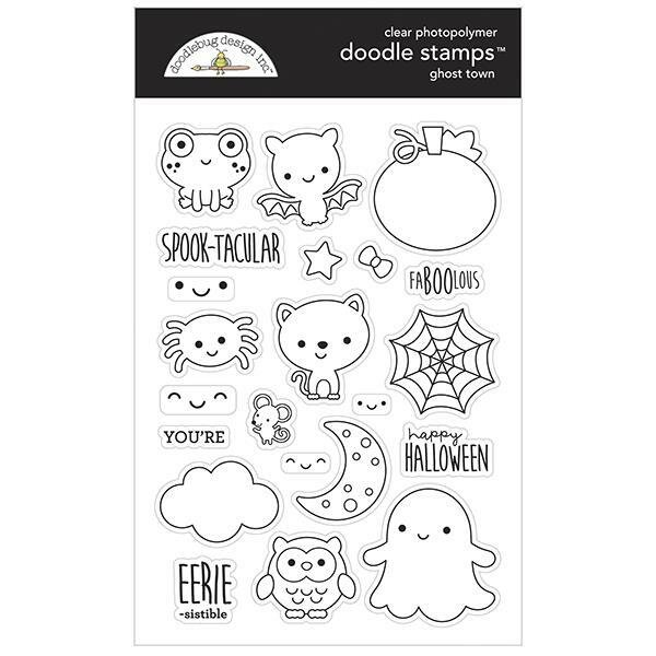 Doodlebug Clear Doodle Stamps-Ghost Town