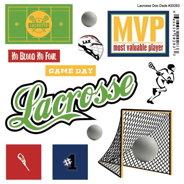 Scrapbook Custom Lacrosse Doo Dads