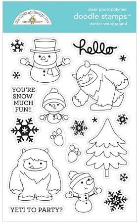 Doodlebug Clear Doodle Stamps-Winter Wonderland